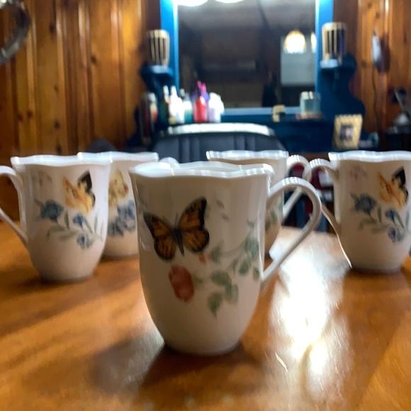 5 Lenox monarch cups